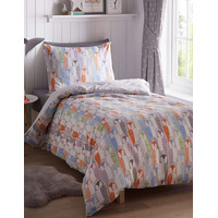 Owl Single Bedding - Pastels