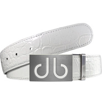 Druh Golf Belt - Crocodile Tour Leather - White 2020