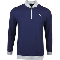 PUMA Golf Pullover - Rotation Stealth QZ - Peacoat SS20