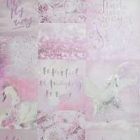 Arthouse Pandoras Dream, Pink, Glitter Unicorn Wallpaper