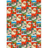 Vintage Christmas Gift Wrap x 3 Sheets
