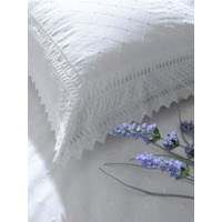 Balmoral, White Broderie Anglaise Pair Of Pillowcases