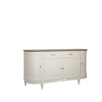 Florence 170cm Vanilla Cream And Oak Curved Sideboard