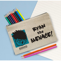 Beano Big Heads Dennis Pencil Case & Pencils