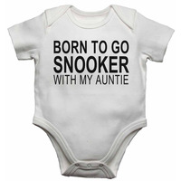 Born to Go Snooker with My Auntie - Baby Vests Bodysuits for Boys, ...