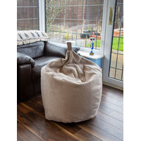 Brown Faux Suede Large Bean Bag