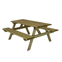 Charles Bentley Superior Wooden Picnic Table
