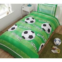 Goal, Green Football Single Bedding
