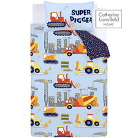 Catherine Lansfield Construction Easy Care Toddler Duvet Set