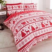 Noel, Christmas Themed Bedding - Red