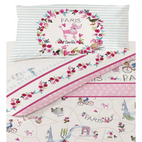 Paris Poodle Single Bedding