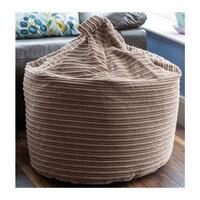 Brown Rib Velor Bean Bag