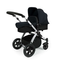 Ickle Bubba Stomp V2 - 2 In 1 Pushchair - Silver - Black