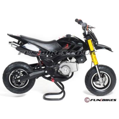 FunBikes Super Motard 50cc 48cm Black Mini Moto Bike