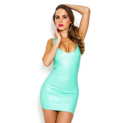 Luna Vest Latex Dress Green