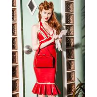 Cherry Whip Halter Dress