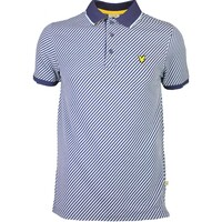 Lyle & Scott Golf Shirt – Gala Diagonal Stripe Navy SS16