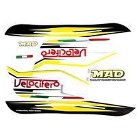 Velocifero Yellow Full Sticker Set