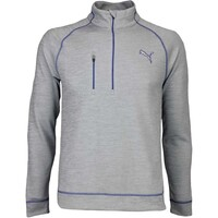 Puma Golf Pullover - PWRWARM Elevated Zip - Quarry Heather AW16