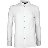 Galvin Green Golf Shirt - MORRIS Long Sleeve - White AW17