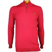 Lyle & Scott Golf Jumper - Tolmount Merino Zip - Bright Red AW16