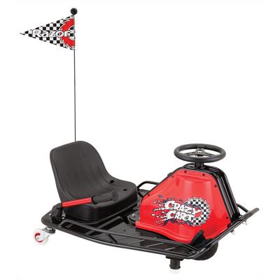 Razor 24v Electric Crazy Drift Cart Red