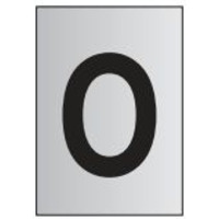 Metal Effect PVC Letter O