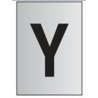 Metal Effect PVC Letter Y