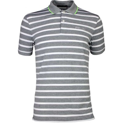 RLX Golf Shirt Striped Airflow Grey Heather White SS17
