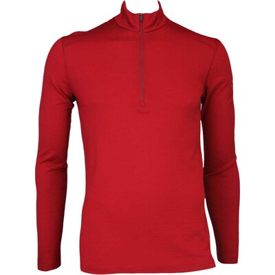 Icebreaker Base Layer Oasis Half Zip Merino Oxblood AW16