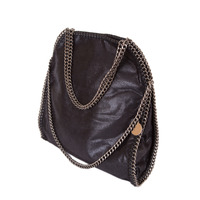 stella-inspired-style-metallic-faux-suede-large-chain-bag-black