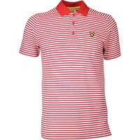 Lyle & Scott Golf Shirt - Craigielaw Tech Tour - Pavilion Red SS17