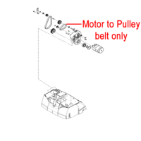 AL-KO 38VLE Scarifier Motor to Drive Belt