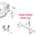 Click to view product details and reviews for Al Ko Height Adjust Lever 531075.