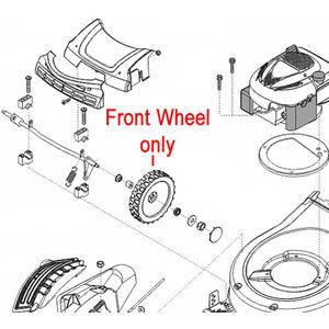 Al Ko Lawnmower Front Wheel 441257