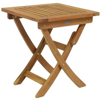 Charles Bentley Wooden Square Foldable Table FSC Certified