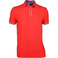 Ted Baker Golf Shirt - Playgo Solid Polo - Red SS17