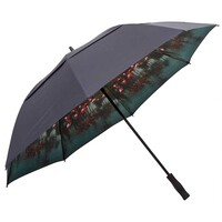 Ted Baker Golf Umbrella - Walk Internal Print - Navy SS17