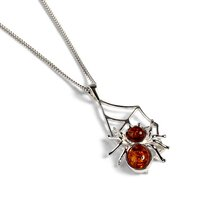 amber-silver-spider-on-the-web-pendant-with-silver-chain-ch3003