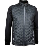 Puma Golf Jacket - PWRWARM Quilted Hybrid - Black AW17