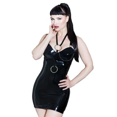 Devotion Exposure Latex Dress Black