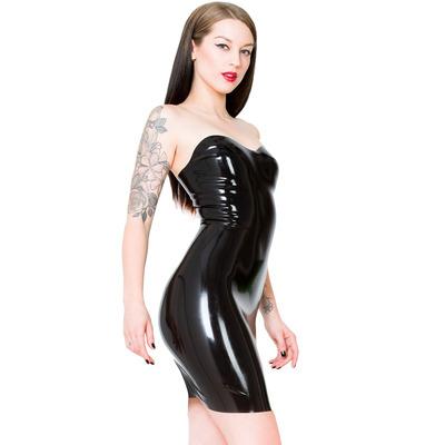 Seamless Jessica Latex Dress Black