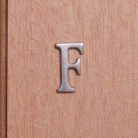Self Adhesive 40mm Aluminium Letter F