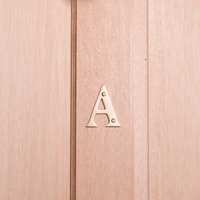 10cm Brass House Letter - A