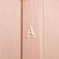 10cm Brass House Letter - A