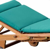 Alexander Rose Polyester Sun Lounger Cushion Green
