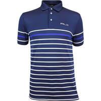 RLX Golf Shirt - YD Stripe Pique - French Navy AW18