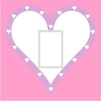 Pink and White Heart Light Switch Cover