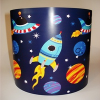 Space Rocket Light Shade - Blue