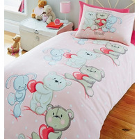 Teddy Bear Love Toddler Duvet Cover